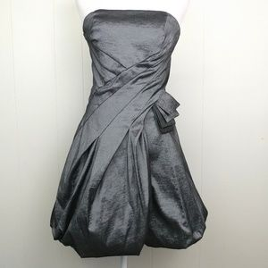 Jessica McClintock Bubble Mini Strapless Dress 10